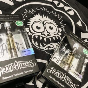 Buy Heavy Hitters Cartridge;The Original high-potency vape cartridge, Heavy Hitters pairs True Ceramic cartridges with Cold-Filtered distillate